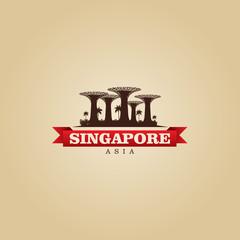 Singapore Asia city symbol vector illustration