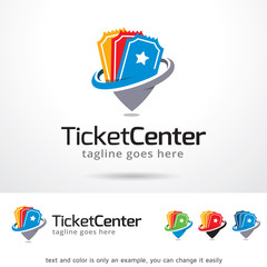 Ticket Center Logo Template Design Vector