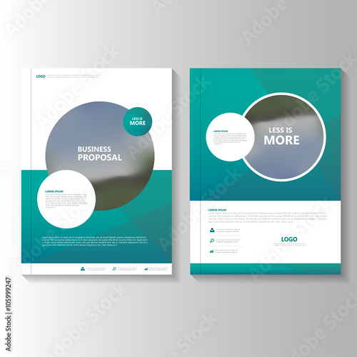 Circle Green Vector Business Proposal Leaflet Brochure Flyer - Brochure flyer templates