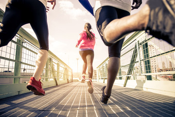 Foto op Plexiglas Jogging Joggers running outdoors