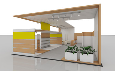 Exhibition Stand with wood
