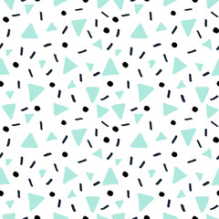 Hand Drawn Retro Seamless Pattern