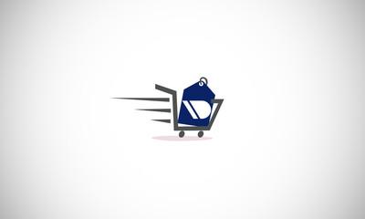 trolley logo vector