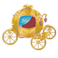 Gold Carriage For Cinderella