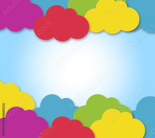 Sfondo Vivace Con Nuvole Colorate Immagini E Fotografie Royalty