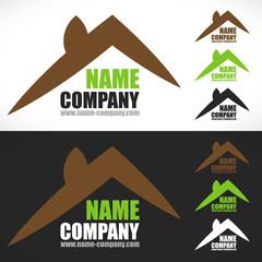 logo construction maison vert écologie