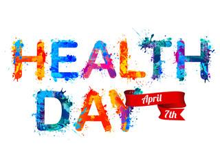 Health day. April 7th. Rainbow splash paint