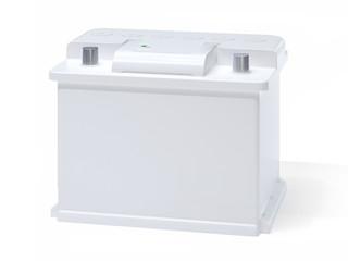 White car battery