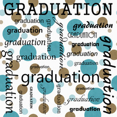 Graduation Design with Teal and White Polka Dot Tile Pattern Rep