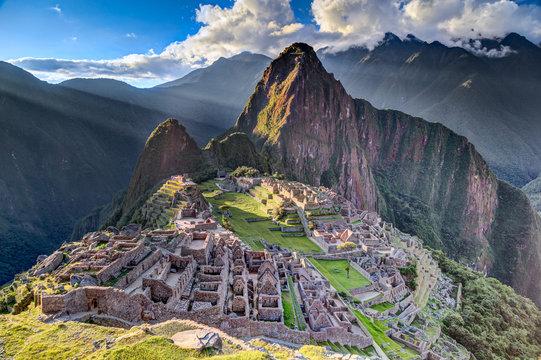Machu Picchu sacred lost city of Incas in Peru