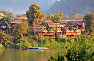the wonderful landscape of nong khiaw in laos