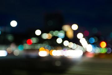 Blur view of street at night