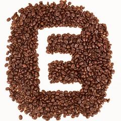 Coffee text , E alphabet