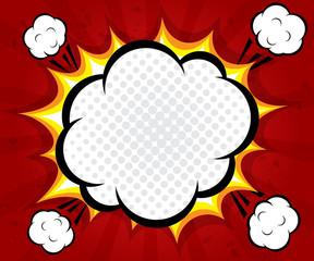 boom blank speech bubble pop art background