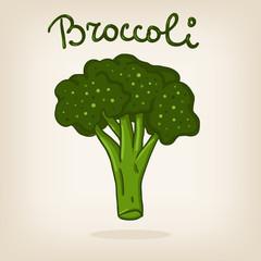 Cute illustration of broccoli
