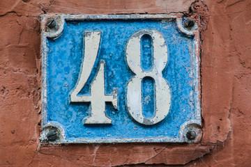 Hausnummer Achtundvierzig