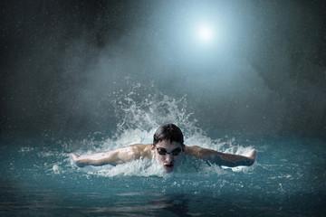 Swimmer in waterpool