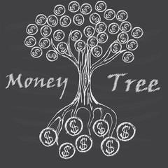 Money tree isolated