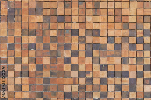 Pattern Of Square Clay Tiles Honeycomb Tile Yellow Red Graphic Design