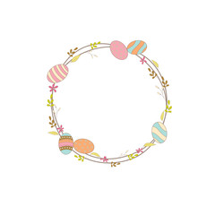 Happy easter floral wreath