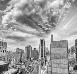 Fototapete - New York, wonderful black and white Manhattan skyline