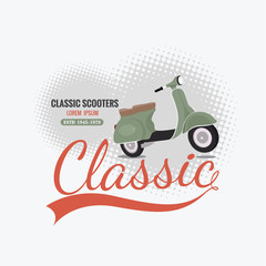 classic scooter vintage banner vector design