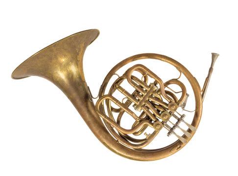 altes blasinstrument horn, waldhorn