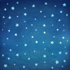 Stars at night  sky ,background  illustration art