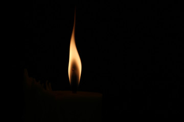 A small flame in the darkness.
