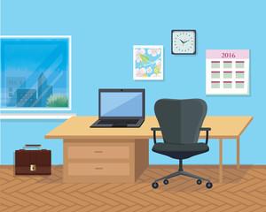 Interior Office Room. Illustration for Design