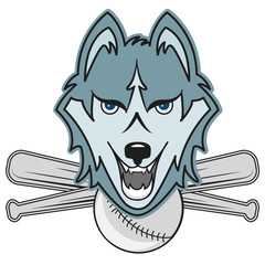 Modern professional wolf  logo for a club or sport team baseball