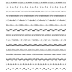 Collection of pattern brushes - borders