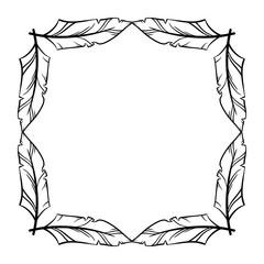Frame vector set hand drawn icons illustration black and white,
