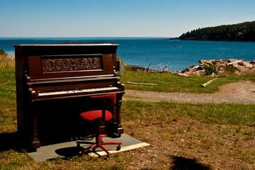 Piano by the sea.