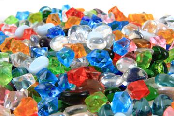 plastic diamonds and beads texture