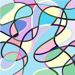 Hand drawn abstract colorful lines background vector icon illust