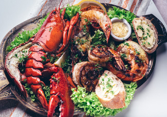 Grilled Lobster & Prawn Platter