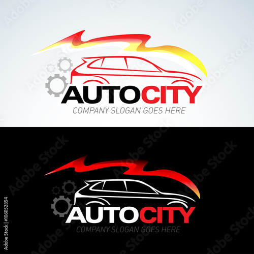 Auto City Car Logo Template Auto Cars Car Logo Speed Automotive