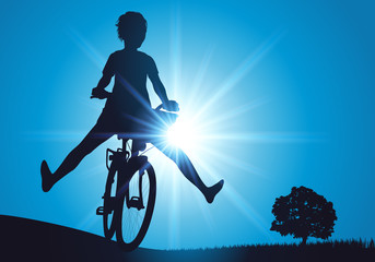 Femme - Vélo - liberté