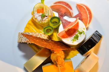 Traditional German appetizer