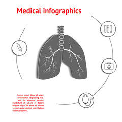 Lungs Medical Infographic
