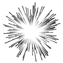 Comic Radial Speed Lines. Graphic Explosion Book Design Element. Vector Illustration.