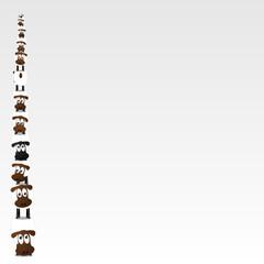 Ein Turm aus Schafen