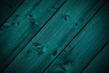 Dark turquoise wooden background