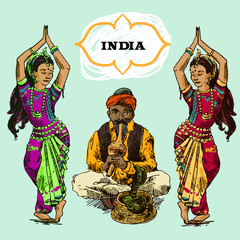 beautiful illustrations India