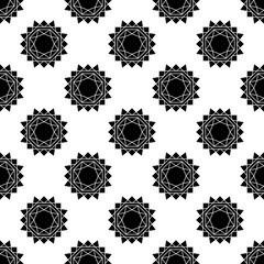 seamless pattern with abstract sun. vector. flat