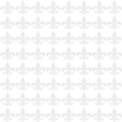 Seamless light fleur de lis flower background