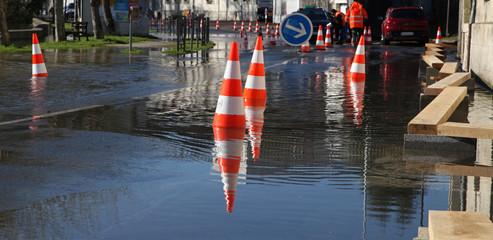 Rue inondée