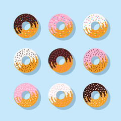 set of doughnut
