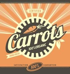 Carrots retro ad concept layout